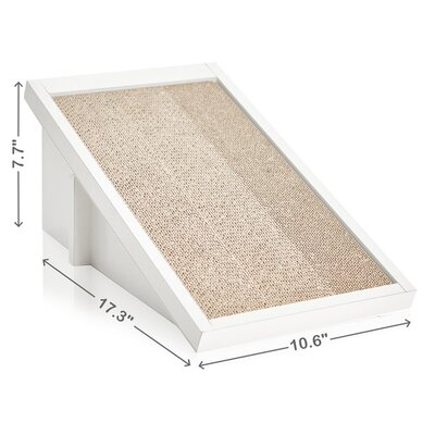 Eco Friendly Incline Scratching Post Color: Aspen White