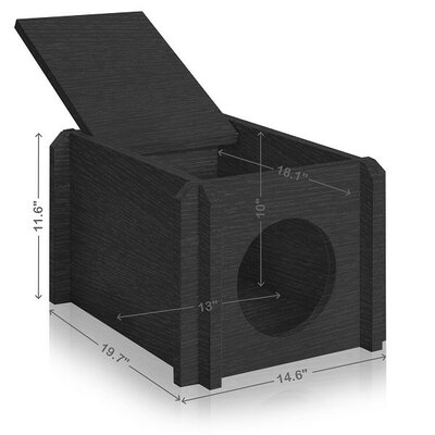 Eco Friendly Cat House Color: Black