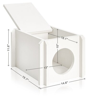 Eco Friendly Cat House Color: Aspen White