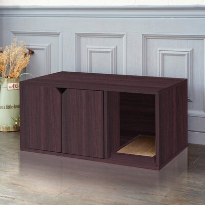 Giselle Modern Litter Box Enclosure Color: Espresso