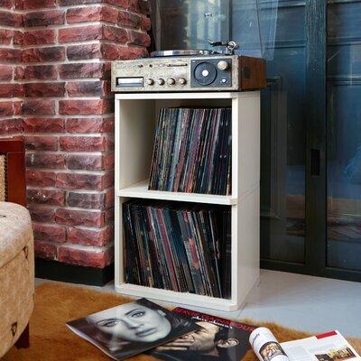 Bellwood Vinyl Multimedia Record Storage Cube Unit Color: Aspen White