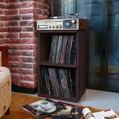 Bellwood Vinyl Multimedia Record Storage Cube Unit Color: Espresso