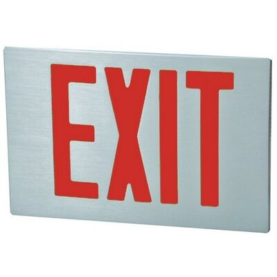 Cast Aluminum Extra Face Plate LED Exit Sign with Red Lettering and Aluminum Face