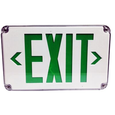 LED Wet Location Exit Sign