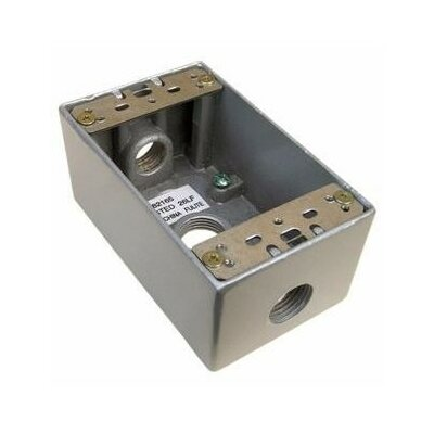 Weatherproof Boxes (Set of 2) Outlet Hole: 0.5 D, Color: Bronze, Lugs: Lugs