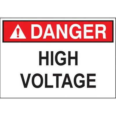 'Danger High Voltage' (Bilingual Sign) Safety Signs