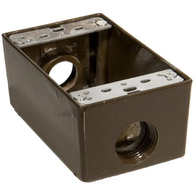 Weatherproof Boxes Color: Bronze, Outlet Hole: 0.75 D, Lugs: Lugs