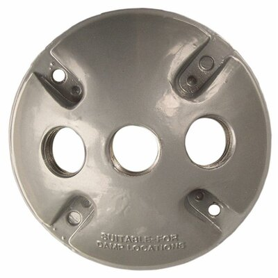 Round Weatherproof Covers in Gray with Three Hole (Set of 4)