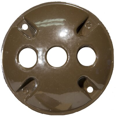 4 Round Weatherproof Covers in Bronze with 0.5 Three Hole