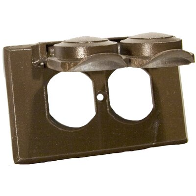 One Gang Weatherproof Covers in Bronze for Horizontal Duplex Receptacle