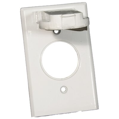 One Gang Weatherproof Covers in White for Vertical Single Receptacle