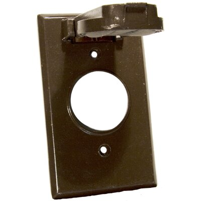 One Gang Weatherproof Covers in Bronze for Vertical Single Receptacle (Set of 3)