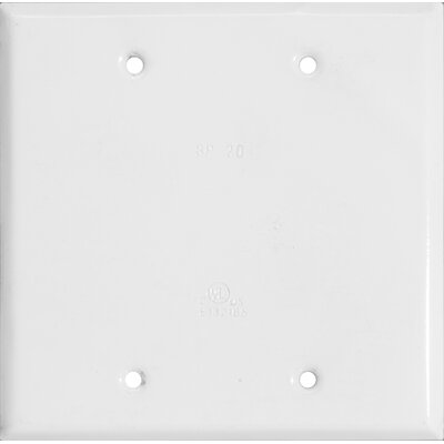 Blank Two Gang Weatherproof Covers in White
