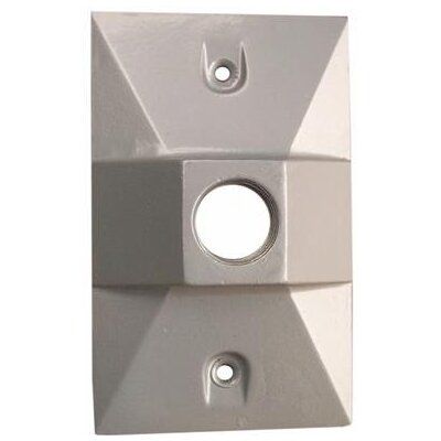 One Hole Rectangular Lamp Holder One Gang Weatherproof Covers (Set of 4) Color: Gray