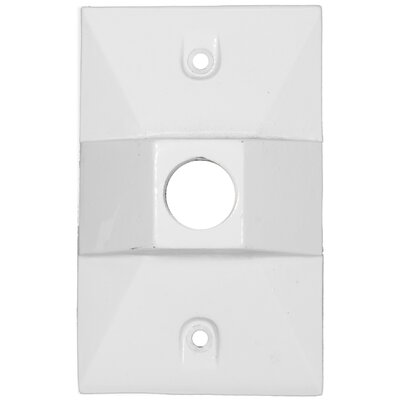 One Hole Rectangular Lamp Holder One Gang Weatherproof Covers (Set of 4) Color: White