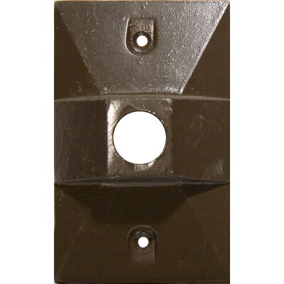 One Hole Rectangular Lamp Holder One Gang Weatherproof Covers Color: Bronze