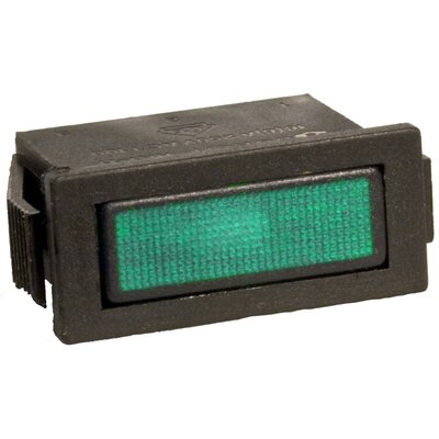 Rectangular Indicator Pilot Lamp in Green (Set of 10)