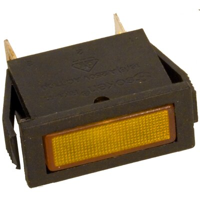 Rectangular Indicator Pilot Lamp in Amber (Set of 10)