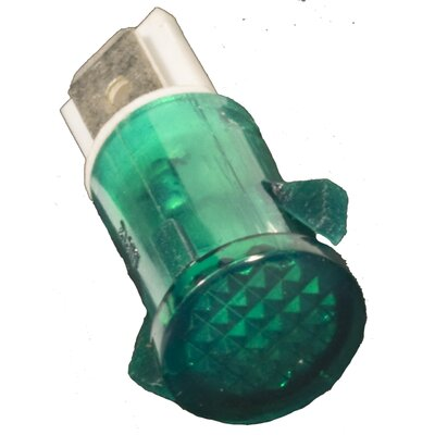 Round Indicator Pilot Lamp (Set of 10) Ratings: 250VAC, Color: Green, Termination: Spade