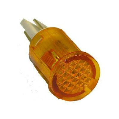 Round Indicator Pilot Lamp (Set of 10) Ratings: 250VAC, Color: Amber, Termination: Spade