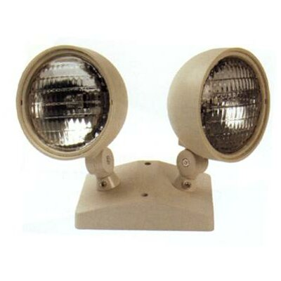 Dual Round Head Remote Emergency Light