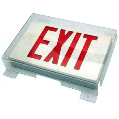Vandal / Environmental Shield Guard for Exit Light