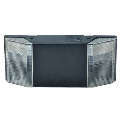 Prism Exit Emergency Lighting Unit in Black
