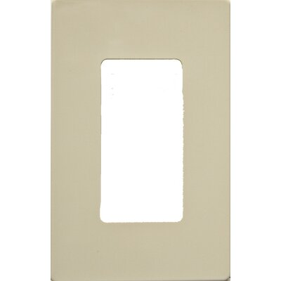 1 Gang Decorator Screwless Snap in Wall Plates in Ivory (Set of 3)