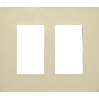 2 Gang Decorator Screwless Snap in Wall Plates in Ivory (Set of 2)