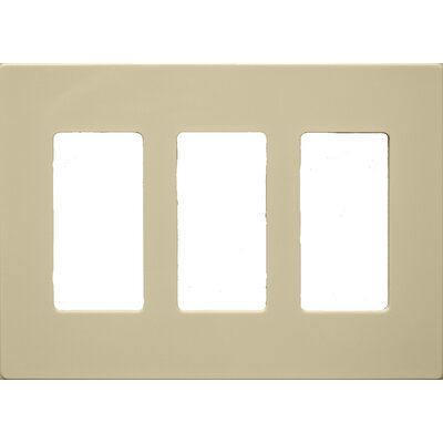 3 Gang Decorator Screwless Snap in Wall Plates in Ivory