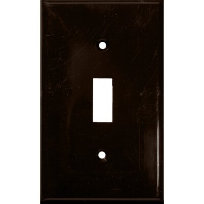 1 Gang Lexan Wall Plates for Toggle Switch in Brown