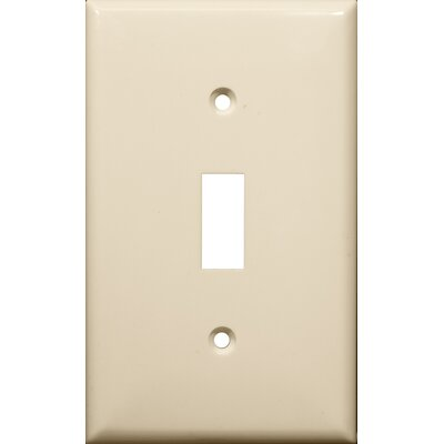 1 Gang Lexan Wall Plates for Toggle Switch in Almond