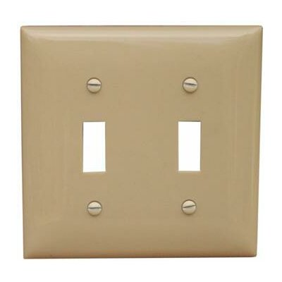 2 Gang Lexan Wall Plates for Toggle Switch in Ivory (Set of 9)