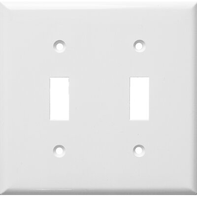 2 Gang Lexan Wall Plates for Toggle Switch in White
