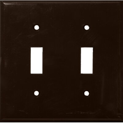 2 Gang Lexan Wall Plates for Toggle Switch in Brown
