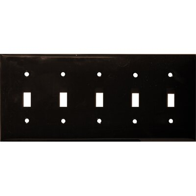 5 Gang Lexan Wall Plates for Toggle Switch in Brown