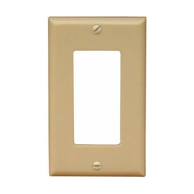 1 Gang Decorator / GFCI Lexan Wall Plates in Ivory (Set of 12)