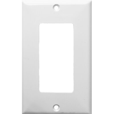 1 Gang Decorator / GFCI Lexan Wall Plates in White