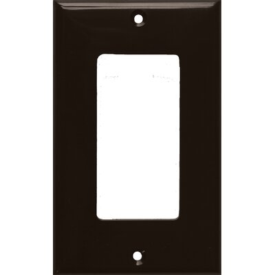 1 Gang Decorator / GFCI Lexan Wall Plates in Brown