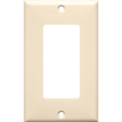 1 Gang Decorator / GFCI Lexan Wall Plates in Almond (Set of 12)