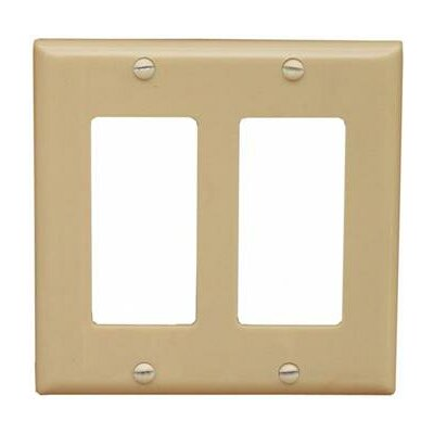 2 Gang Decorator / GFCI Lexan Wall Plates in Ivory