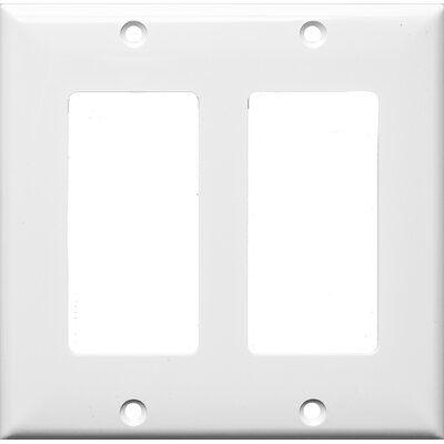2 Gang Decorator / GFCI Lexan Wall Plates in White