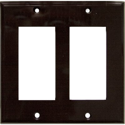 2 Gang Decorator / GFCI Lexan Wall Plates in Brown