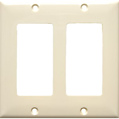 2 Gang Decorator / GFCI Lexan Wall Plates in Almond (Set of 7)