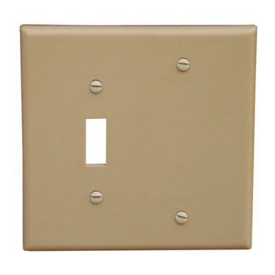 2 Gang 1 Toggle 1 Blank Lexan Wall Plates Blank in Ivory (Set of 6)