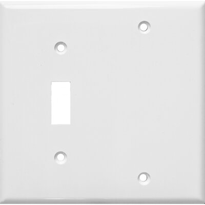2 Gang 1 Toggle 1 Blank Lexan Wall Plates Blank in White (Set of 6)
