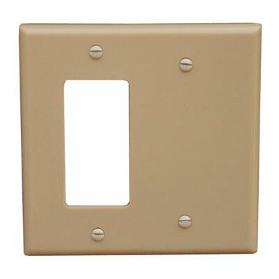 2 Gang 1 GFCI 1 Blank Lexan Wall Plates in Ivory (Set of 6)