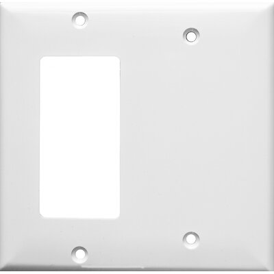 2 Gang 1 GFCI 1 Blank Lexan Wall Plates in White