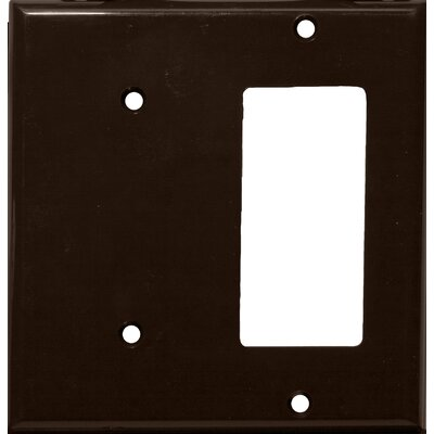 2 Gang 1 GFCI 1 Blank Lexan Wall Plates in Brown