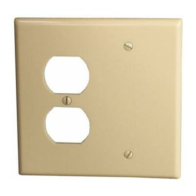 2 Gang 1 Duplex 1 Blank Lexan Wall Plates in Ivory